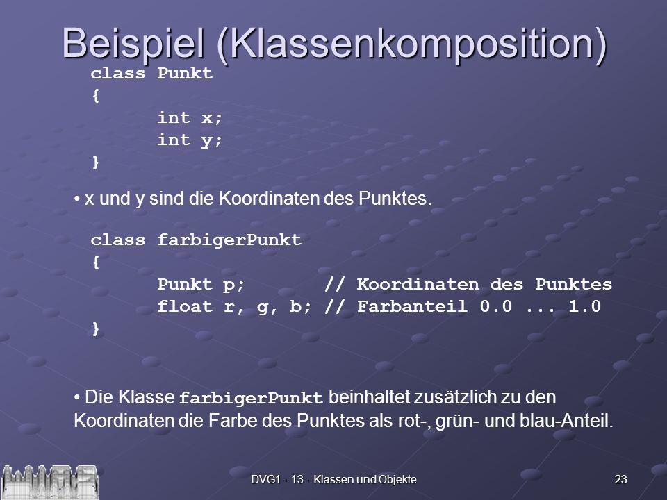 Beispiel (Klassenkomposition)