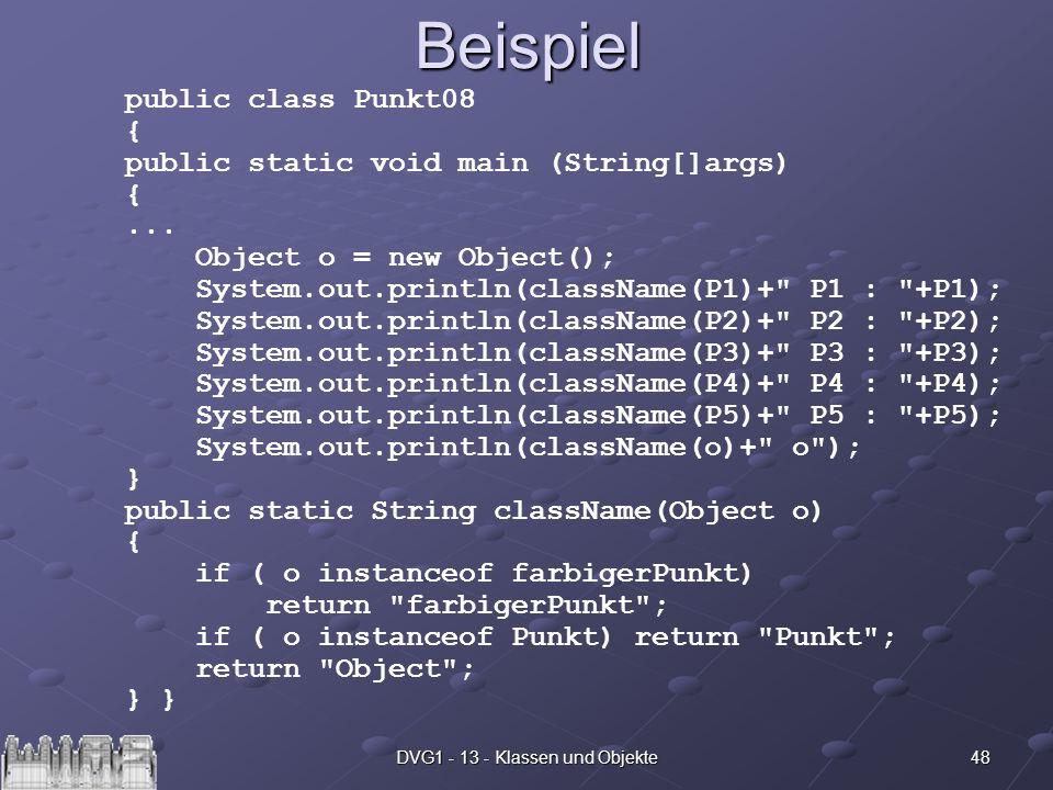DVG1 - 13 - Klassen und Objekte