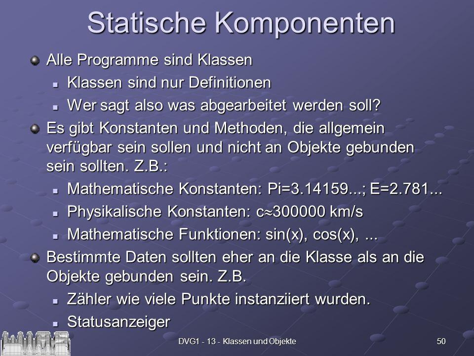 Statische Komponenten