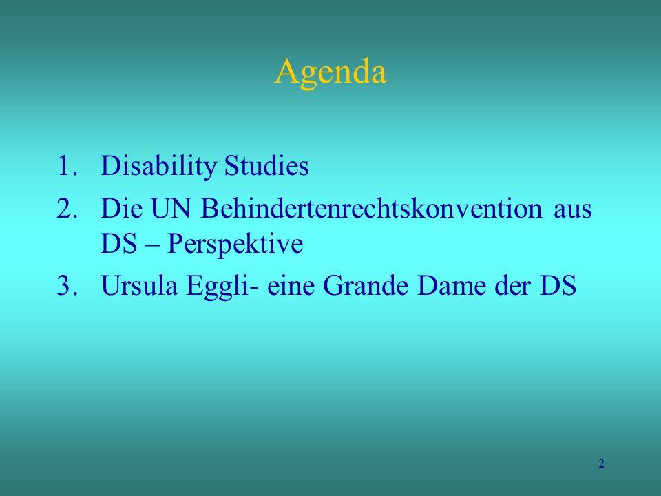 Agenda Disability Studies