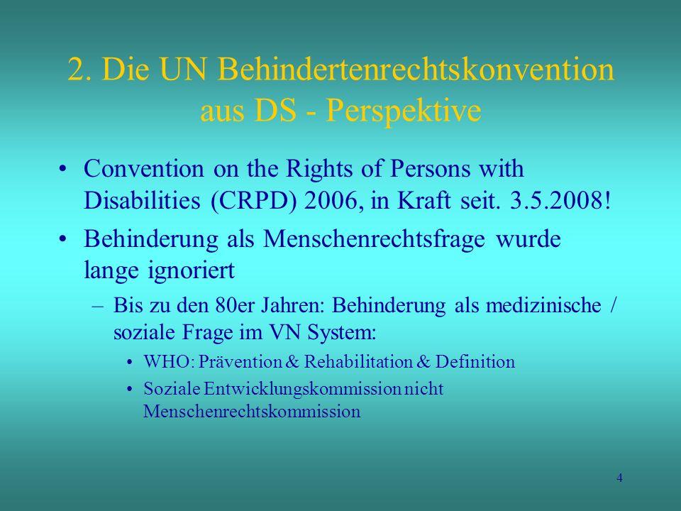 2. Die UN Behindertenrechtskonvention aus DS - Perspektive