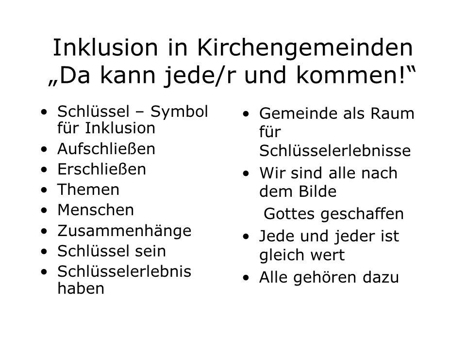 """Inklusion in Kirchengemeinden """"Da kann jede/r und kommen!"""