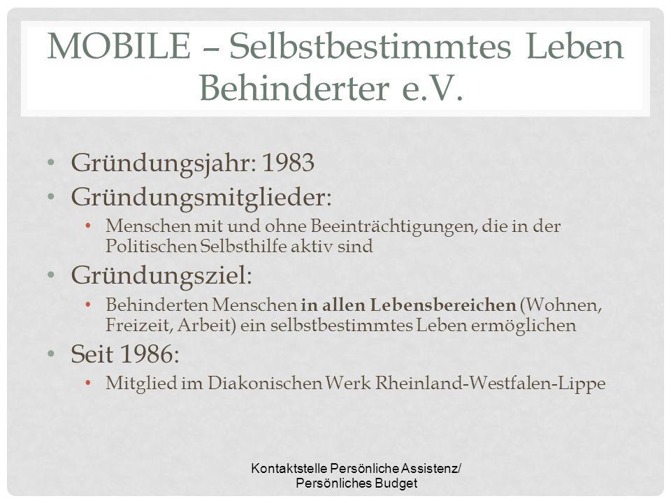 MOBILE – Selbstbestimmtes Leben Behinderter e.V.