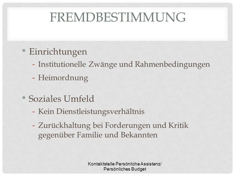 Kontaktstelle Persönliche Assistenz/