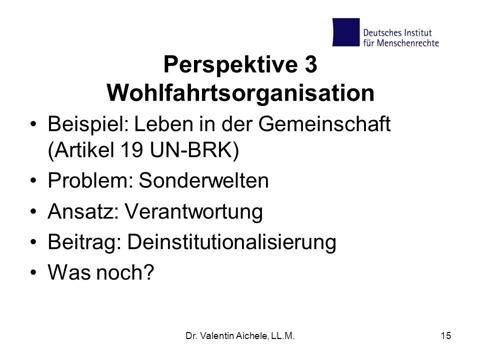 Perspektive 3 Wohlfahrtsorganisation