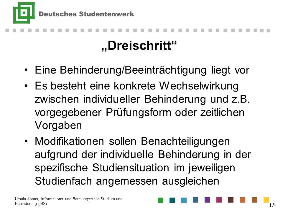 """""""Dreischritt Eine Behinderung/Beeinträchtigung liegt vor"""