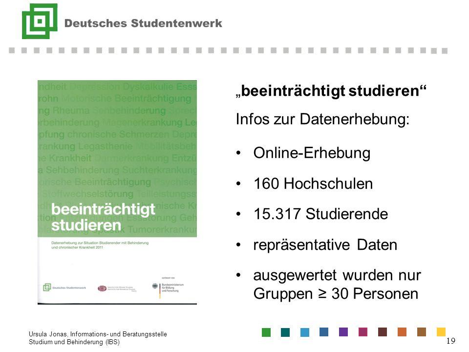 """""""beeinträchtigt studieren Infos zur Datenerhebung: Online-Erhebung"""