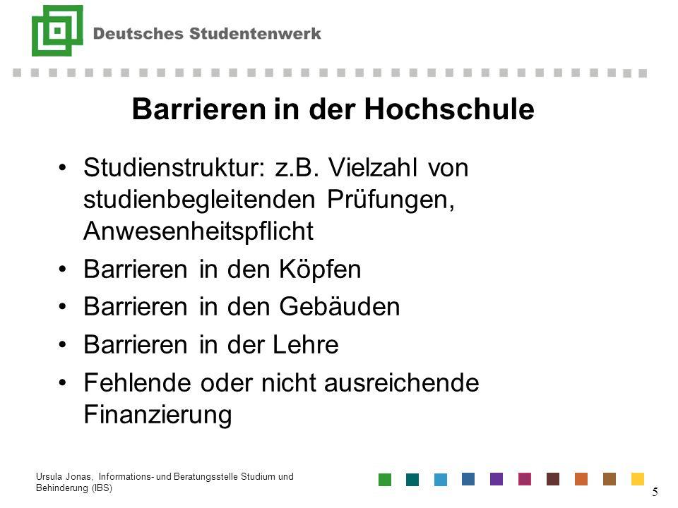 Barrieren in der Hochschule