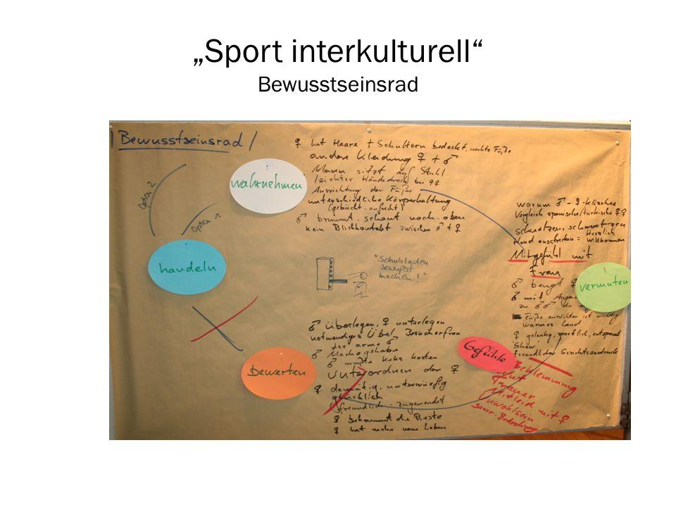 """""""Sport interkulturell Bewusstseinsrad"""