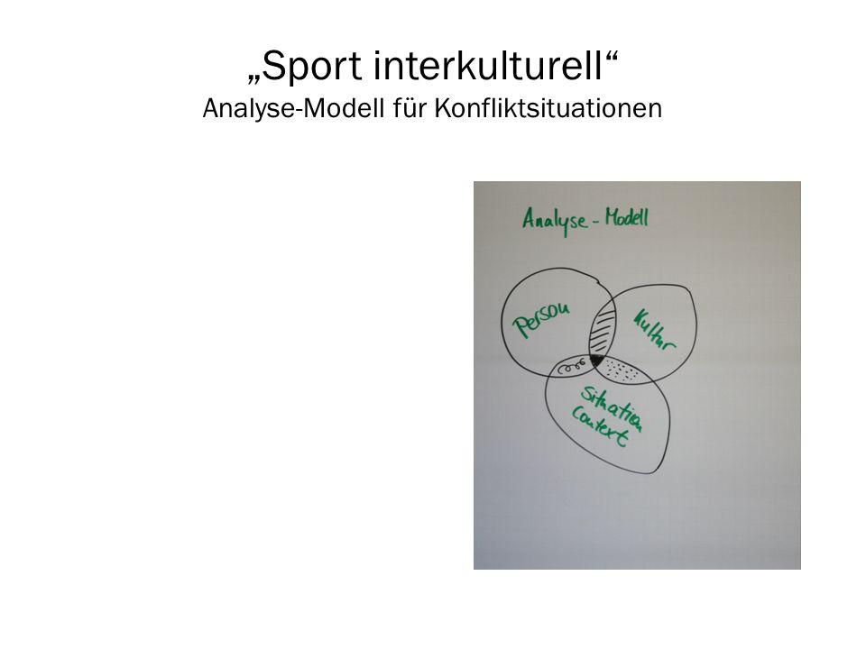 """""""Sport interkulturell Analyse-Modell für Konfliktsituationen"""