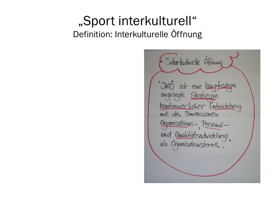 """""""Sport interkulturell Definition: Interkulturelle Öffnung"""