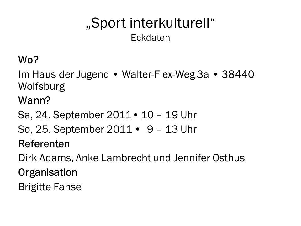 """Sport interkulturell Eckdaten"