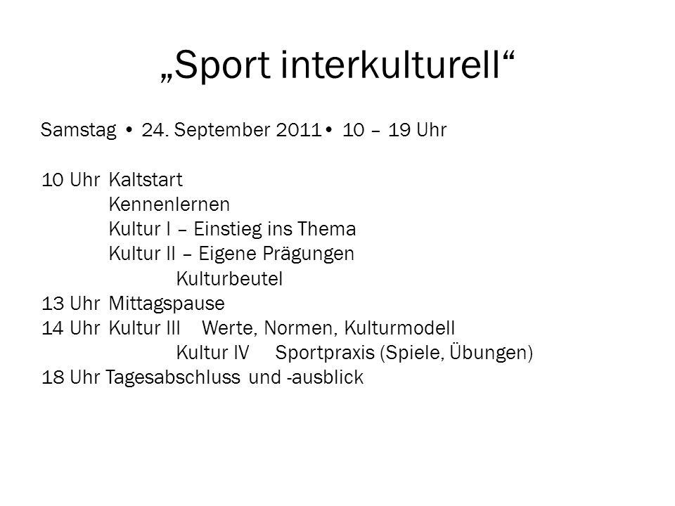 """Sport interkulturell"