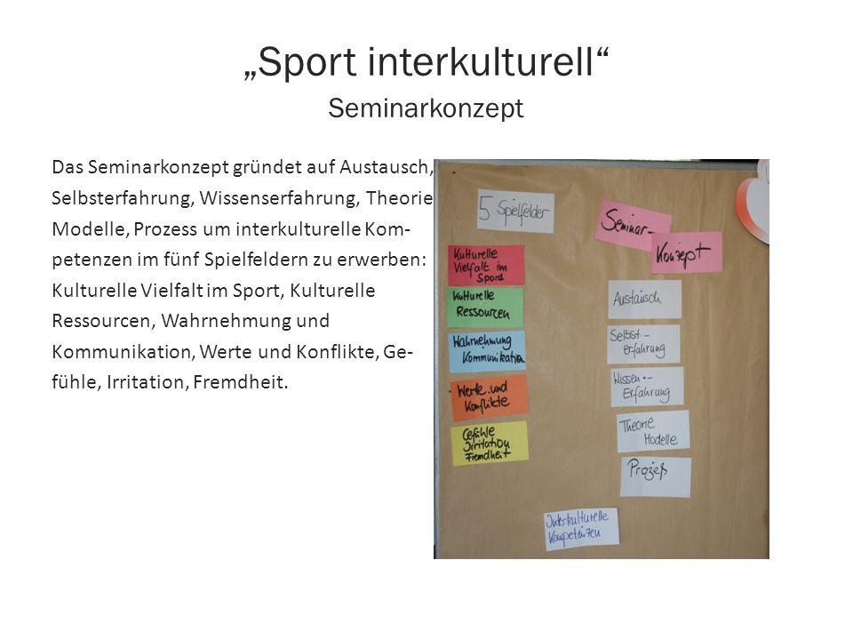 """""""Sport interkulturell Seminarkonzept"""