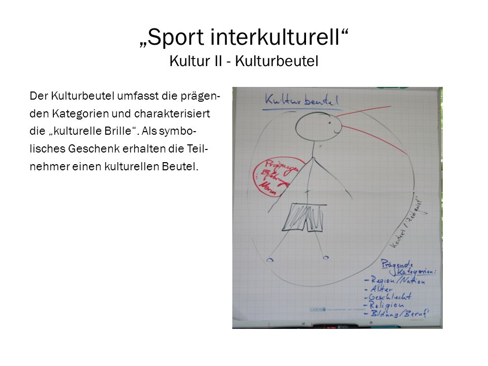 """""""Sport interkulturell Kultur II - Kulturbeutel"""