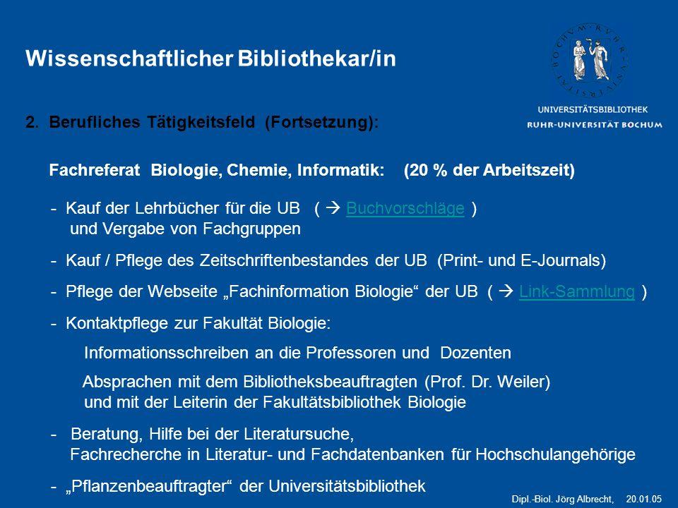 Wissenschaftlicher Bibliothekar/in
