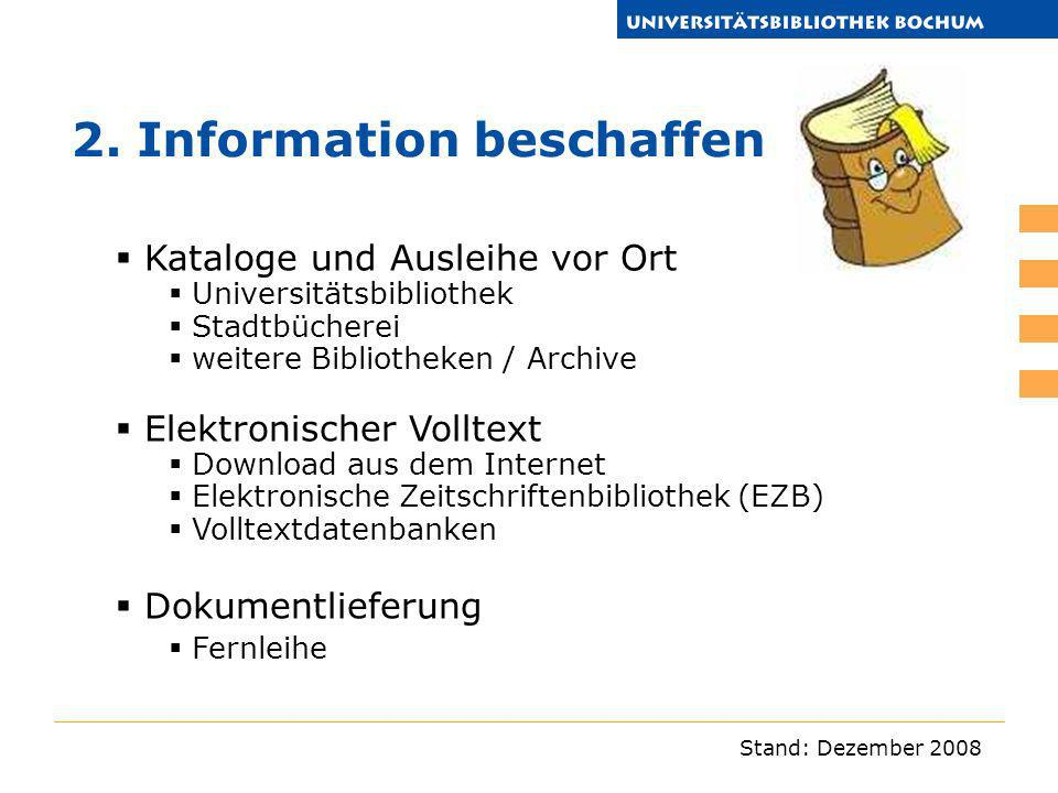 2. Information beschaffen