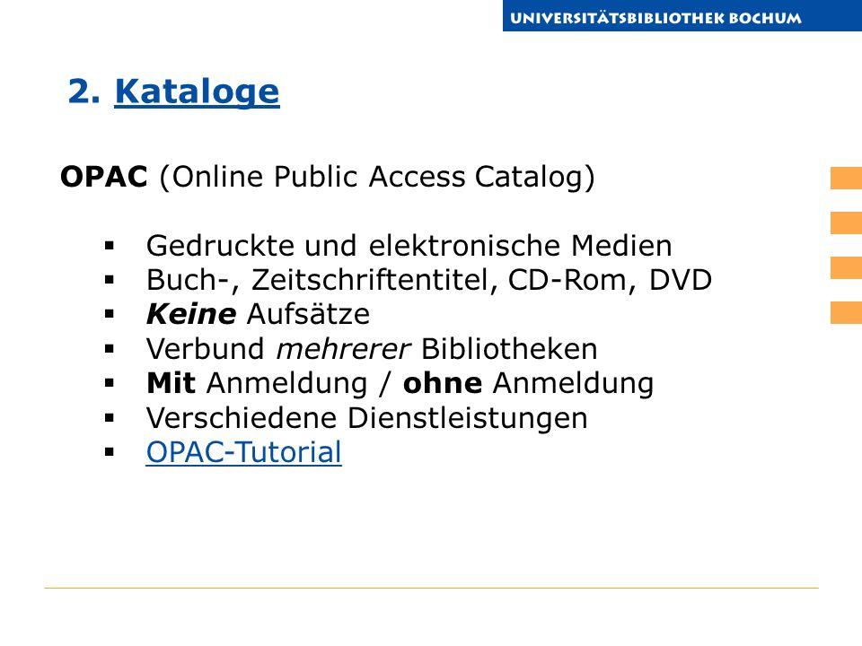 2. Kataloge OPAC (Online Public Access Catalog)