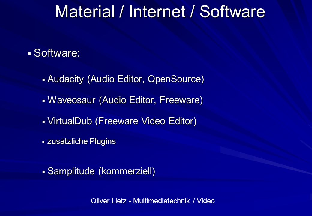 Material / Internet / Software