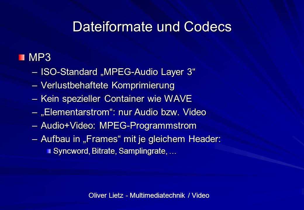 Dateiformate und Codecs