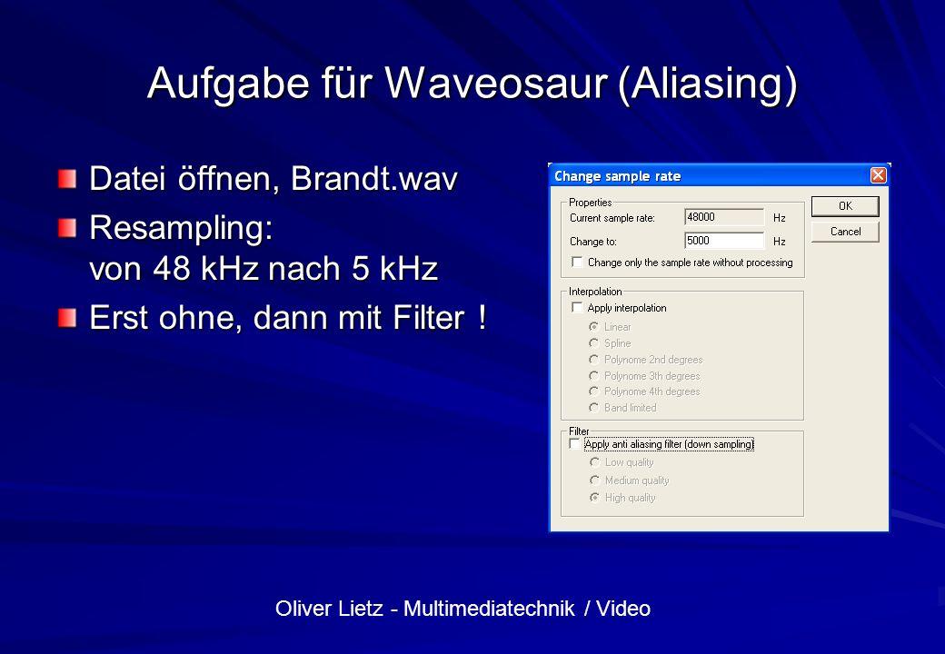 Aufgabe für Waveosaur (Aliasing)