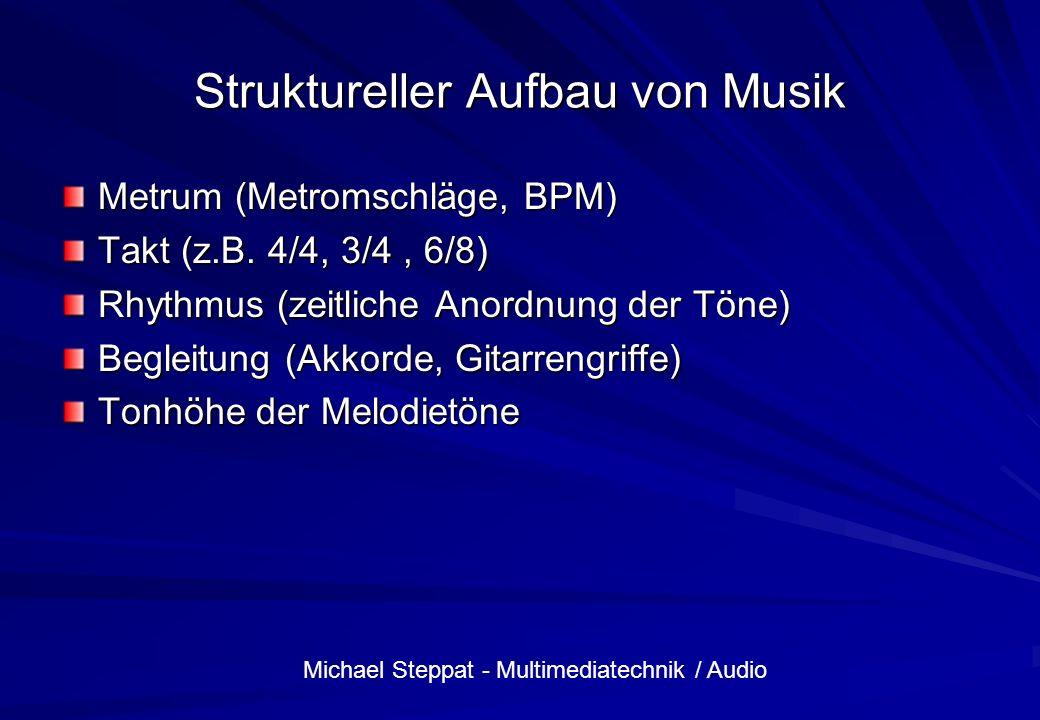 Struktureller Aufbau von Musik