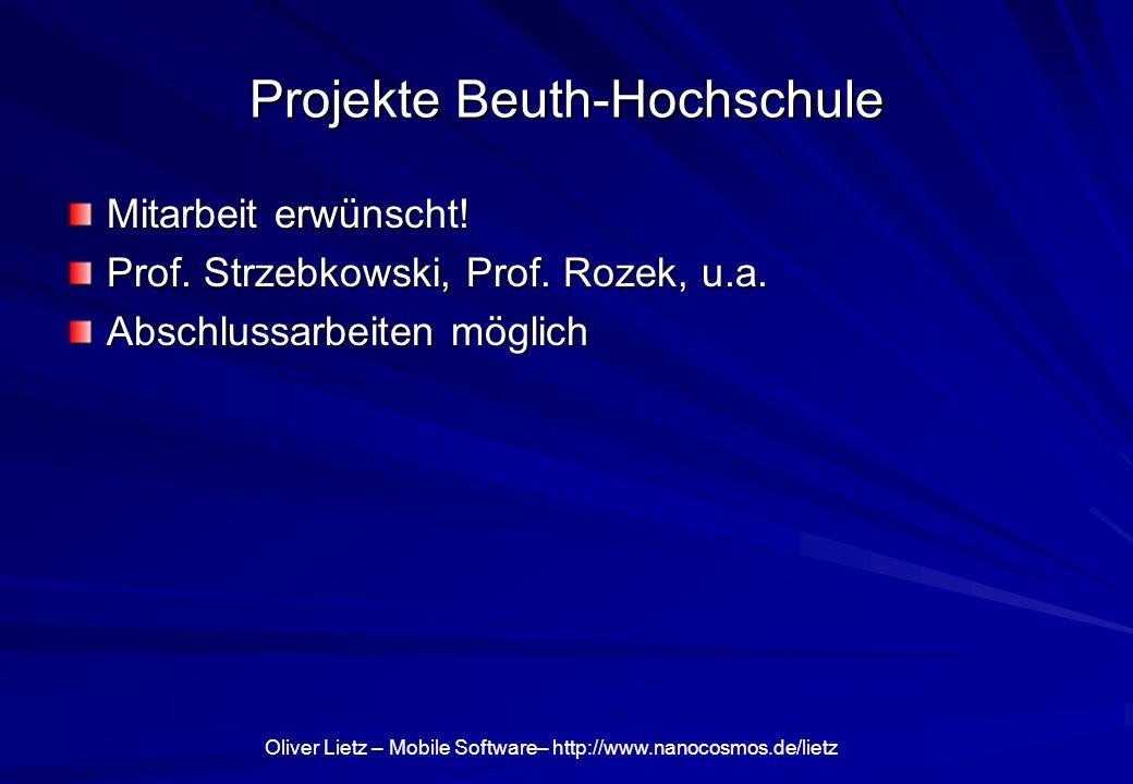 Projekte Beuth-Hochschule