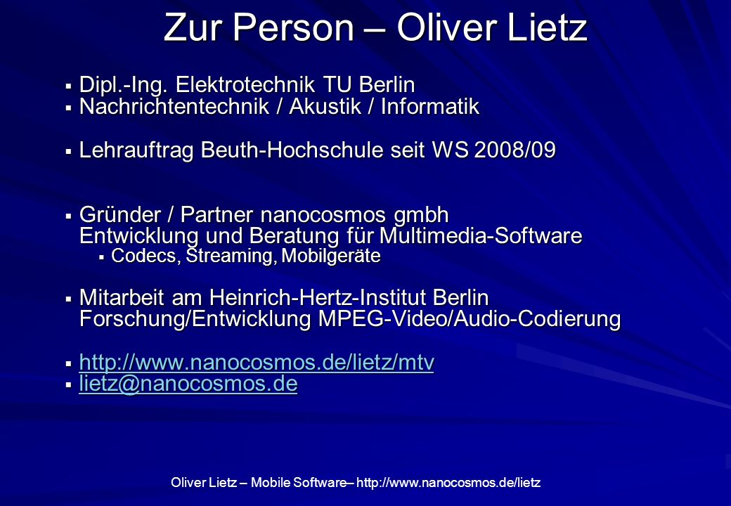 Zur Person – Oliver Lietz