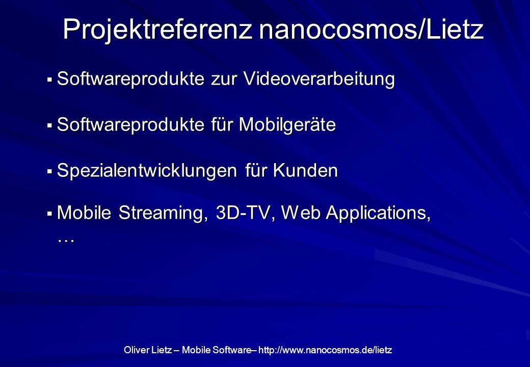 Projektreferenz nanocosmos/Lietz