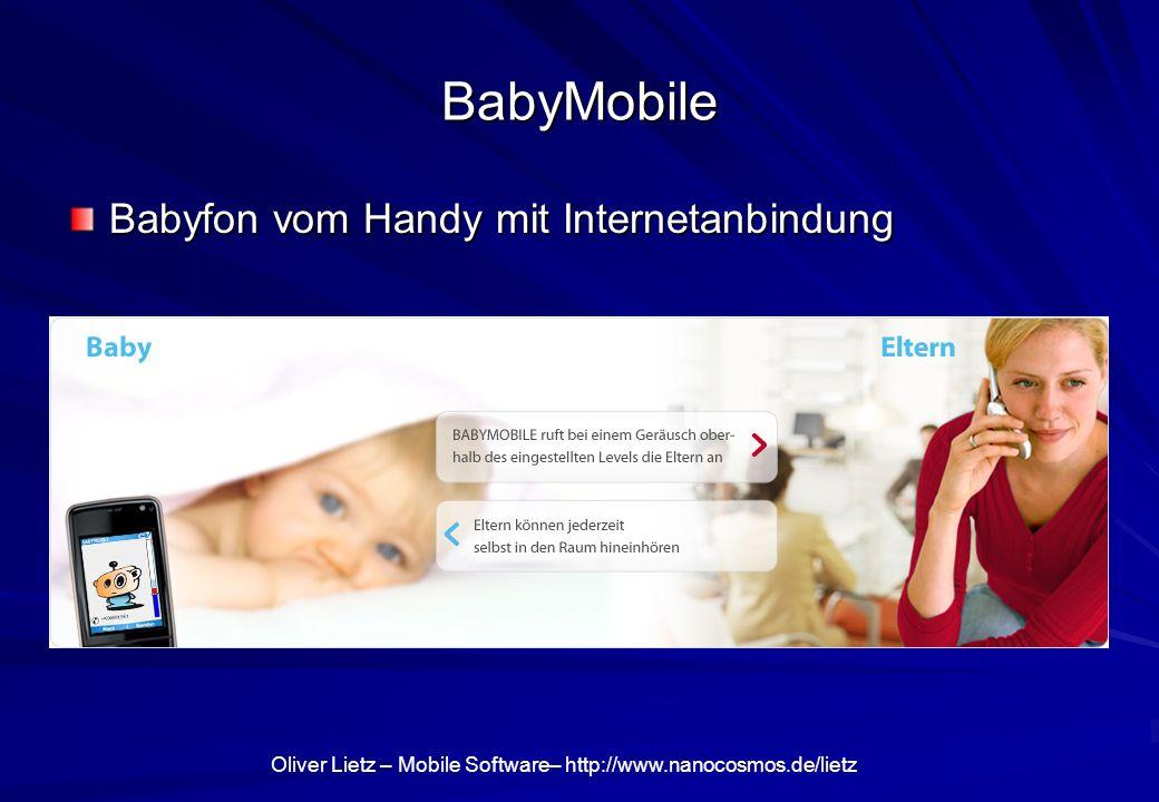 BabyMobile Babyfon vom Handy mit Internetanbindung