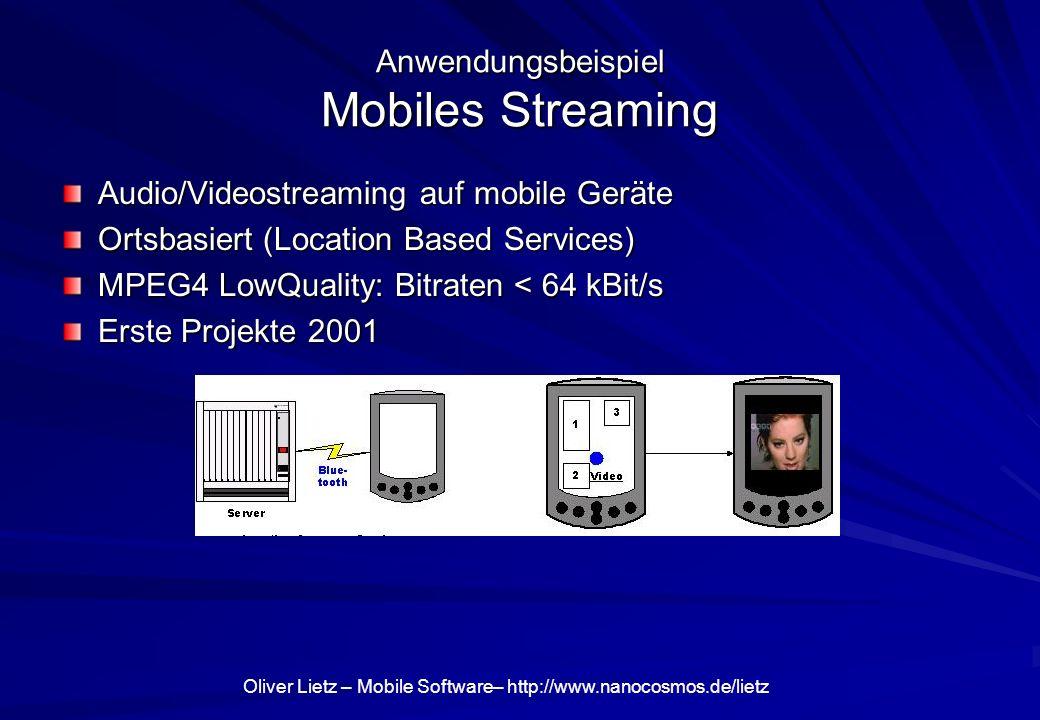 Anwendungsbeispiel Mobiles Streaming