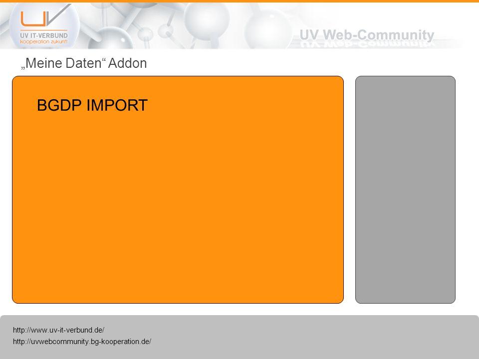 """""""Meine Daten Addon BGDP IMPORT"""