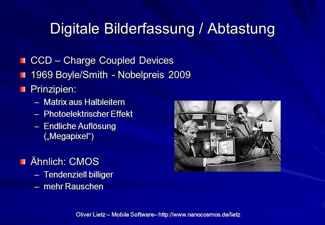 Digitale Bilderfassung / Abtastung