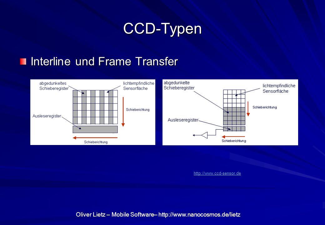 CCD-Typen Interline und Frame Transfer http://www.ccd-sensor.de