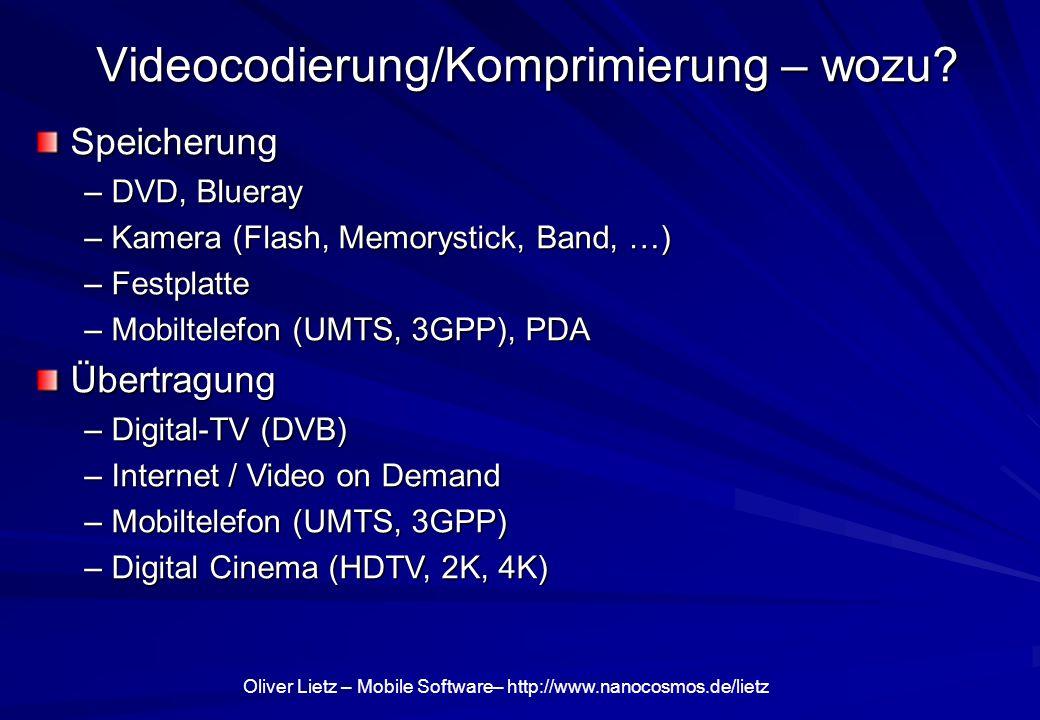 Videocodierung/Komprimierung – wozu