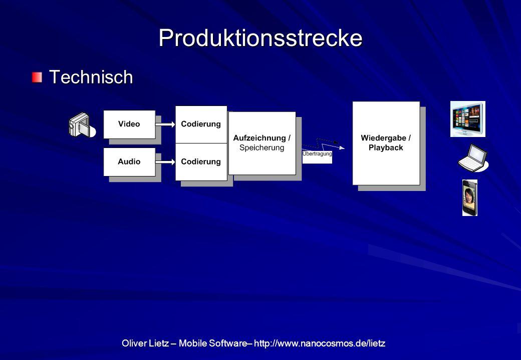 Produktionsstrecke Technisch