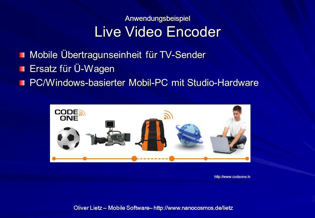 Anwendungsbeispiel Live Video Encoder