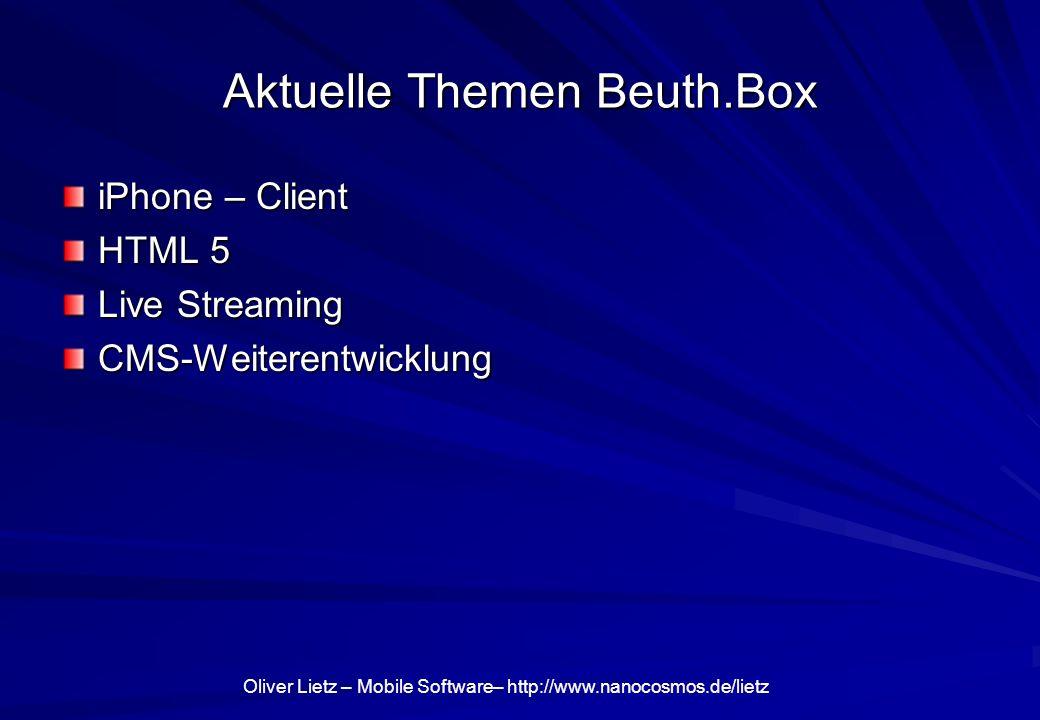 Aktuelle Themen Beuth.Box