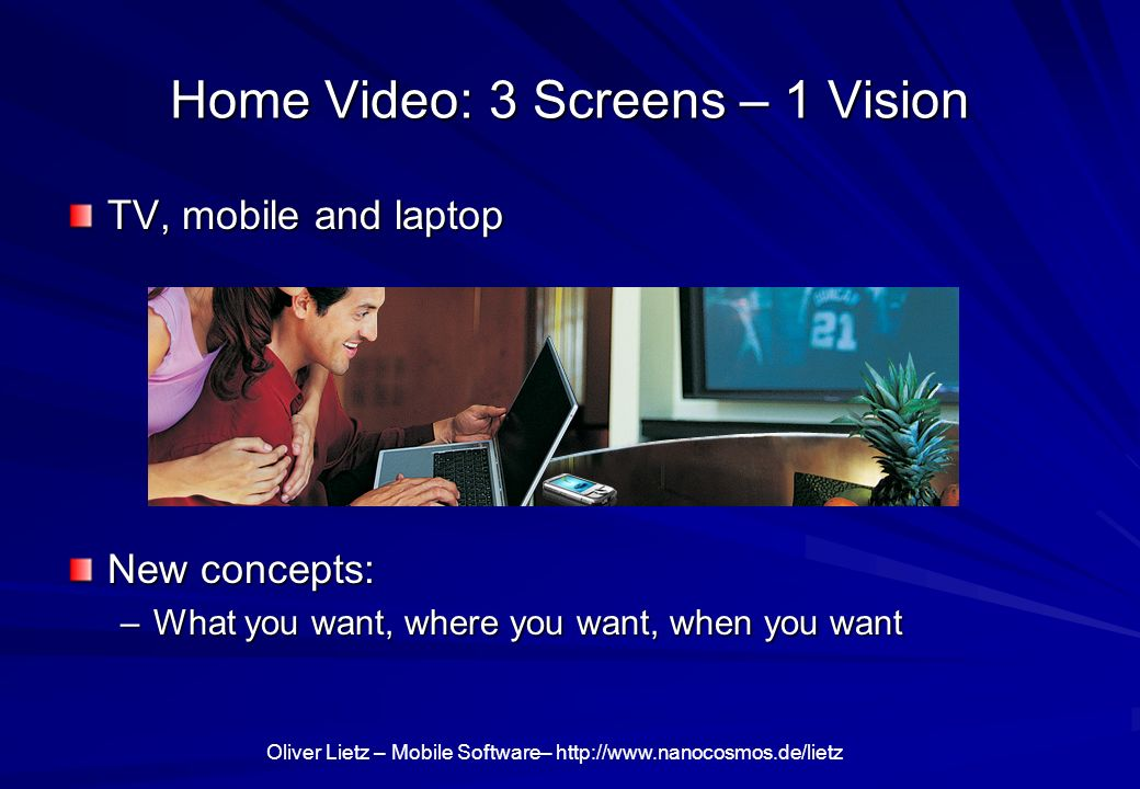 Home Video: 3 Screens – 1 Vision