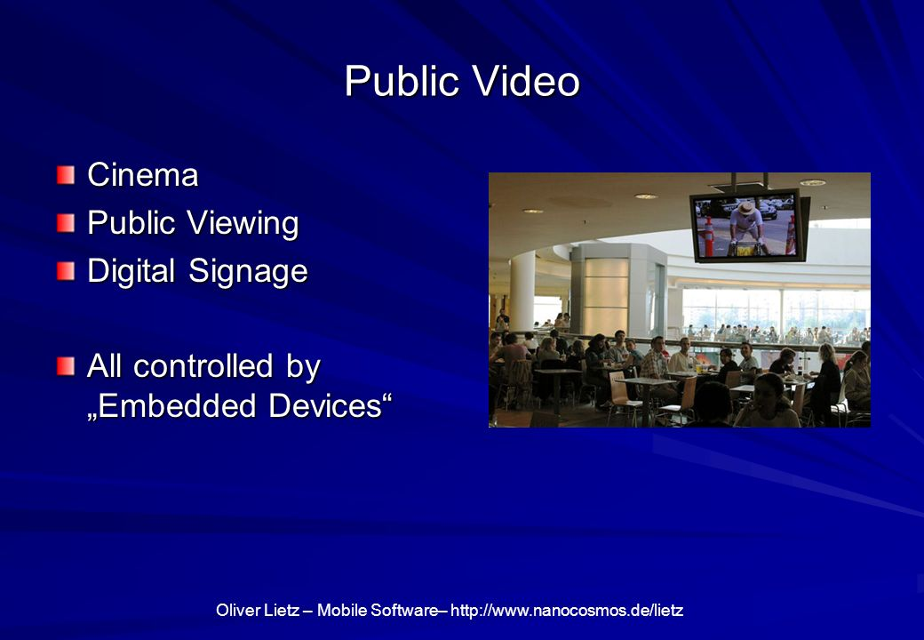 Public Video Cinema Public Viewing Digital Signage