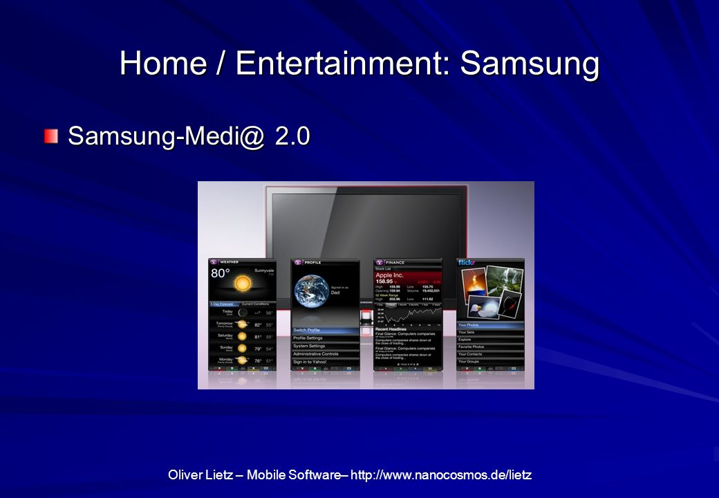 Home / Entertainment: Samsung