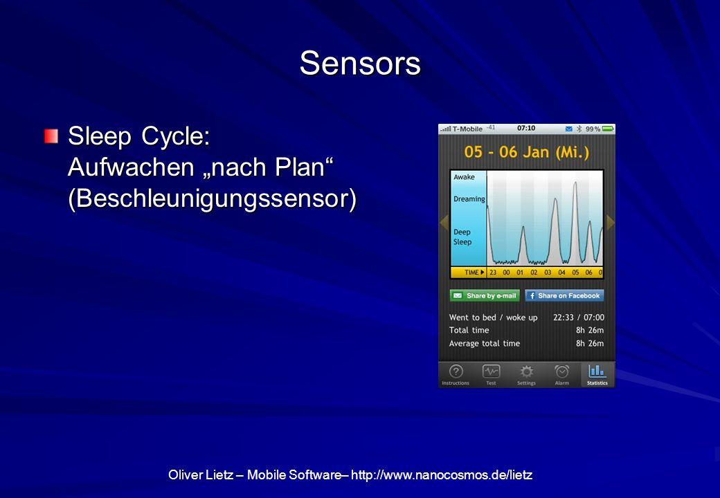 """Sensors Sleep Cycle: Aufwachen """"nach Plan (Beschleunigungssensor)"""