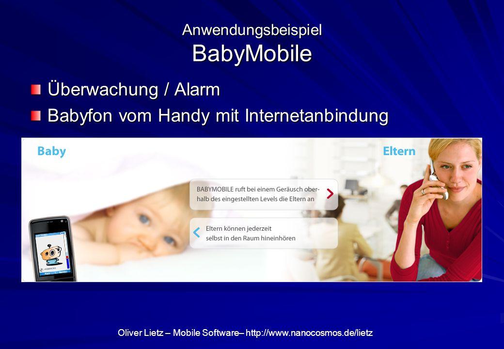 Anwendungsbeispiel BabyMobile