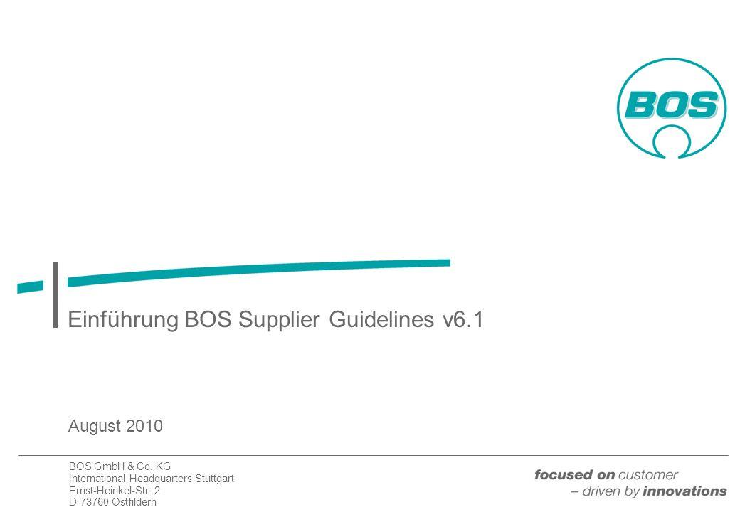 Einführung BOS Supplier Guidelines v6.1