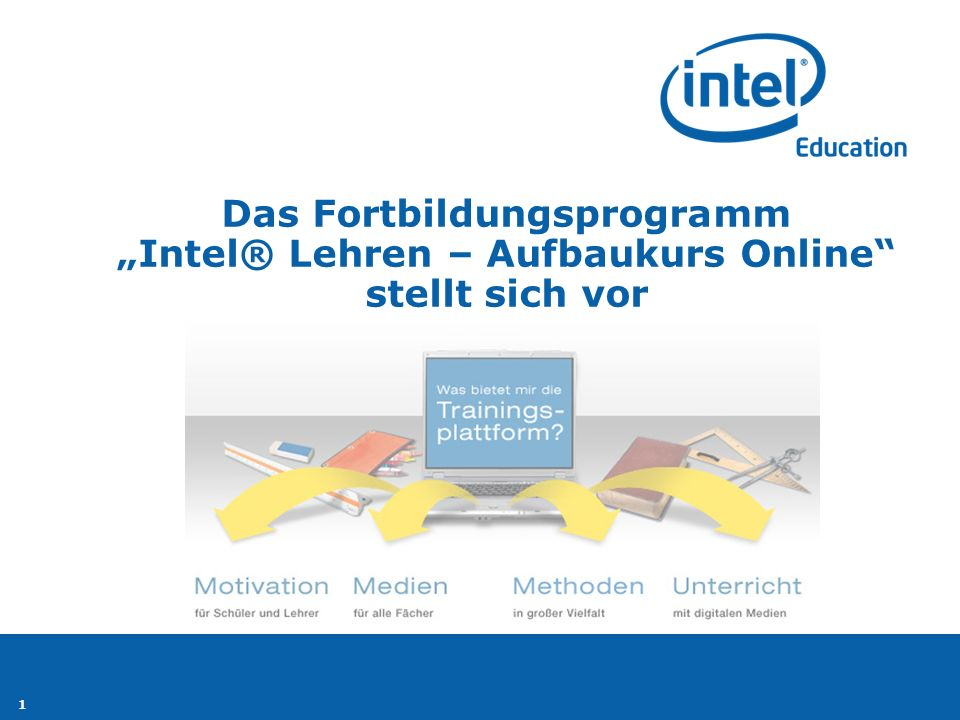 """Das Fortbildungsprogramm """"Intel® Lehren – Aufbaukurs Online stellt sich vor"""