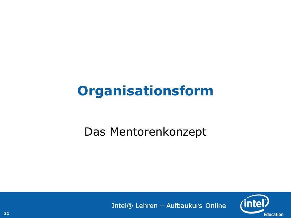Organisationsform Das Mentorenkonzept