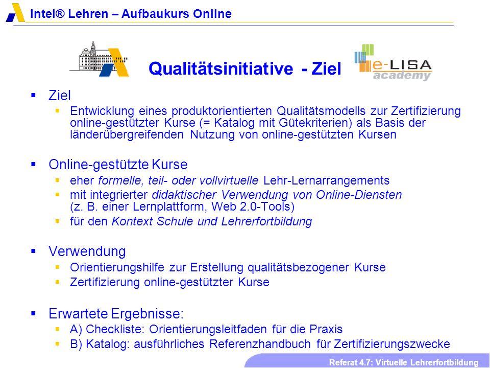 Qualitätsinitiative - Ziel