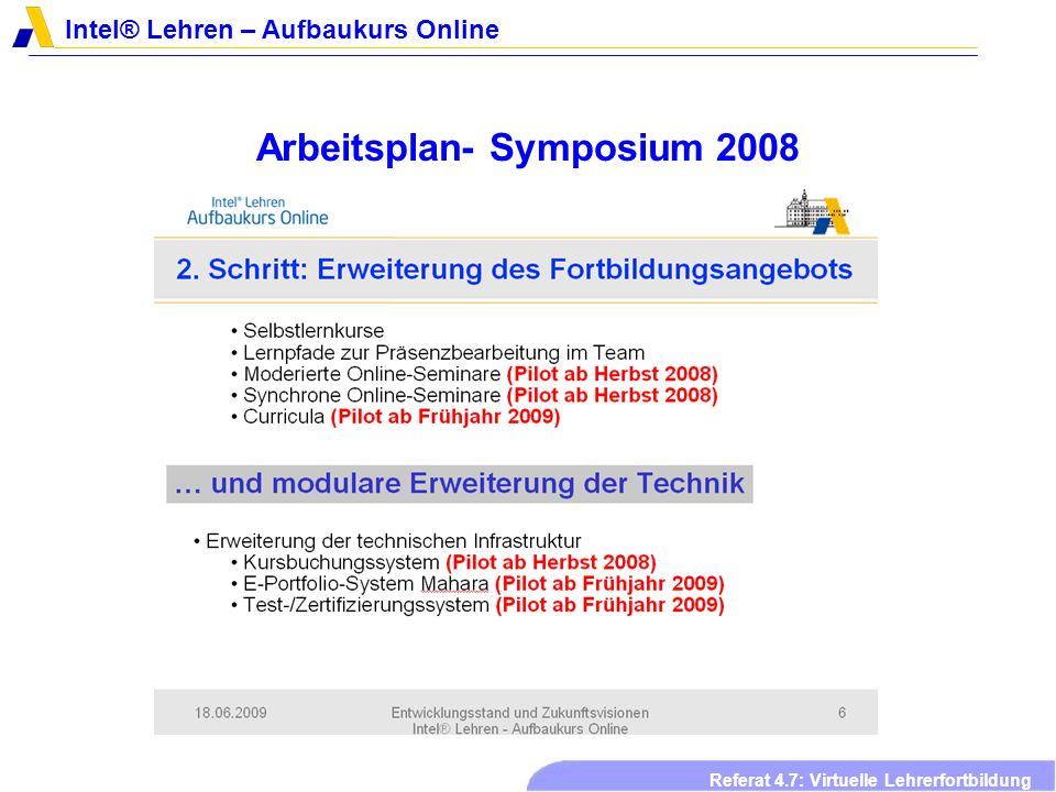 Arbeitsplan- Symposium 2008
