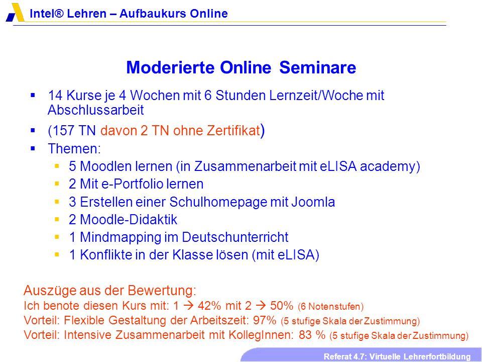 Moderierte Online Seminare