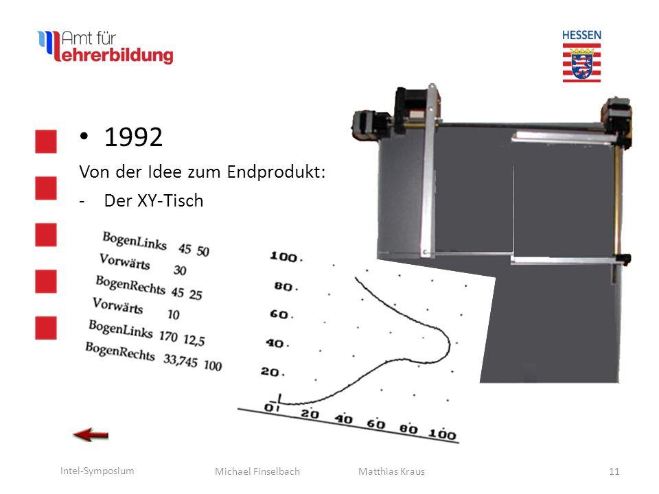 1992 Von der Idee zum Endprodukt: Der XY-Tisch Matthias Kraus